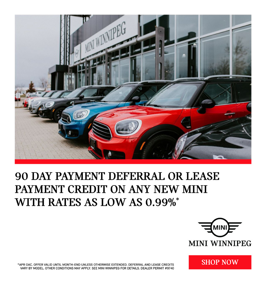 MINI May 90 Day Payment Deferral Lease Credit Rates as low as 0%
